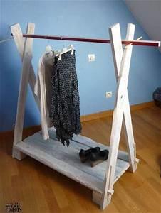 Portant Vetement Bois : r alisation et pr sentation d 39 objets de d coration en diy ~ Teatrodelosmanantiales.com Idées de Décoration