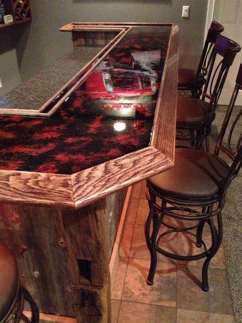 red countertop epoxy bartop epoxy countertop
