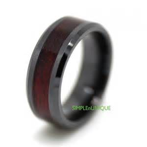 mens black wedding rings ceramic ring mens wedding band mens ring promise rings for wedding ring mens wood ring