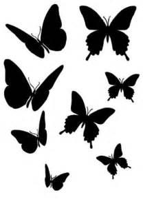 butterfly silhouettes butterfly stencil stencils