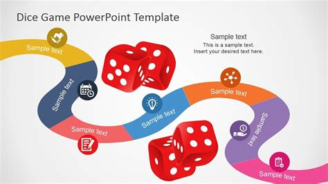 board game powerpoint template timeline planning