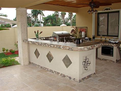 tile outdoor kitchen white rendered outdoor kitchen with inset tile 2770