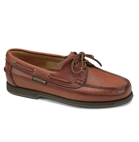 Mephisto Boat Shoes mephisto hurrikan boat shoe in brown for brown