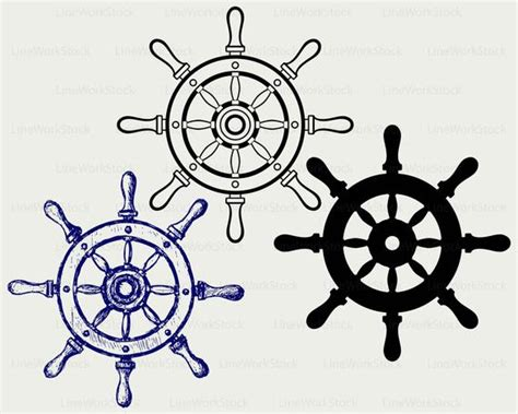 Ship Wheel Svgwheel Ship Clipartwheel Marine Svgship Wheel