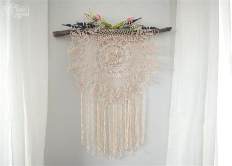 Diy Bohemian Decor: Make A Boho Wall Hanging From A Thrifted Doily (Video