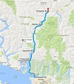 Sea to Sky Highway Map Vancouver to Whistler | Scenic ...