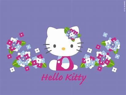 Kitty Hello Wallpapers Screensavers Purple Wallpapertag