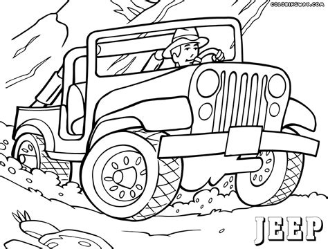jeep coloring pages coloring pages    print