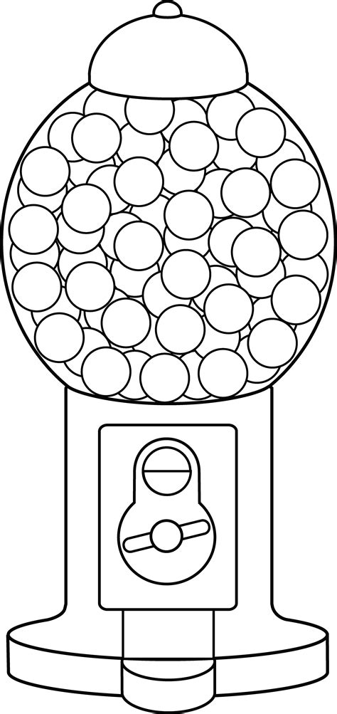 gumball machine template gumball machine coloring page free clip
