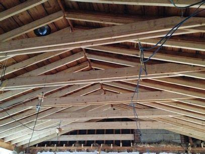 vaulted ceiling construction  collar ties      beautiful  images