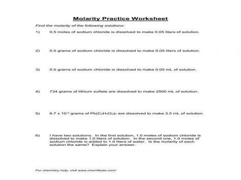 mole calculation practice worksheet homeschooldressage