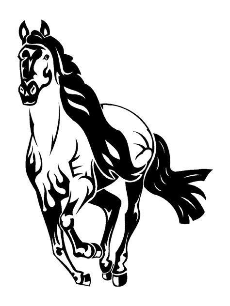 Mustang Horse Coloring Pages 22515 Bestofcoloringcom