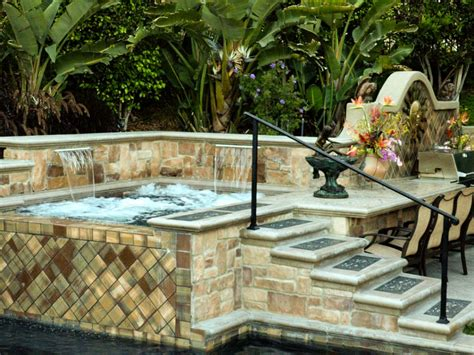 pictures of outdoor spas swimming pool spas hgtv