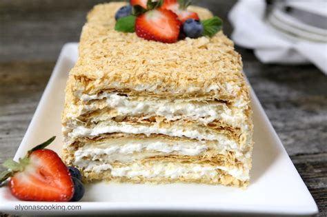 You may like napoleon cake when it's nicely soaked and moist or when it has just been assembled fewer layers; Easy Napoleon Cake