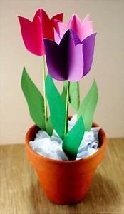 Papier Selber Machen : tulpen aus papier selber machen dekoking diy bastelideen dekoideen zeichnen lernen ~ Frokenaadalensverden.com Haus und Dekorationen