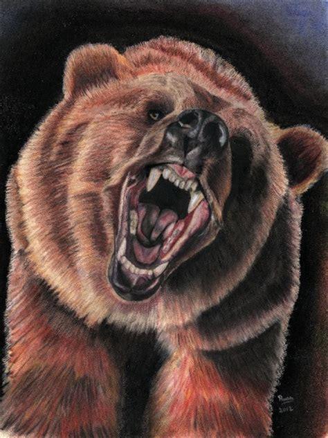 print  pastel drawing bear greeting meylah