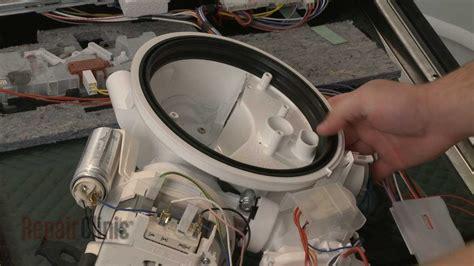 dishwasher pump gasket replacement bosch dishwasher repair part  youtube