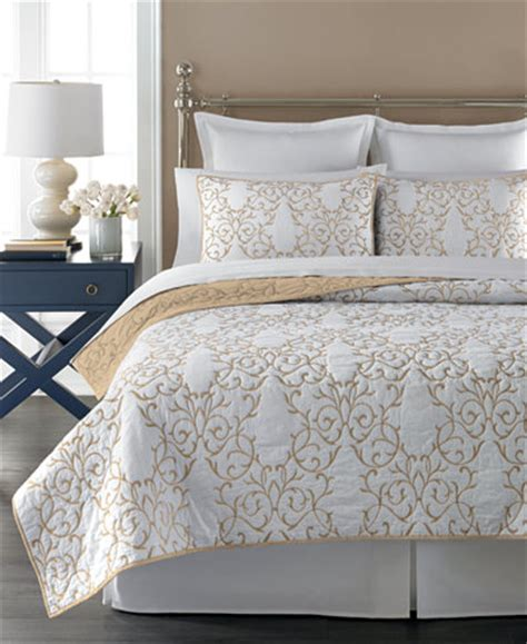 Macys Coverlets by Martha Stewart Collection Chateau Latte King Quilt Only