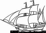 Pirate Ship Coloring Pages Printable Ships Print Boats Sheets Viking Cartoon Sail Sailing Sea Printing sketch template