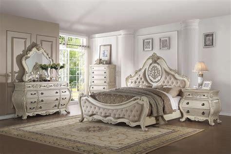 piece acme ragenardus antique white bedroom set