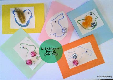 An Invitation To Decorate Easter Cards For Kids