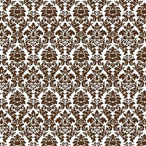 Scrapbooking paper: Brown Damask - Hobby, Crafts and