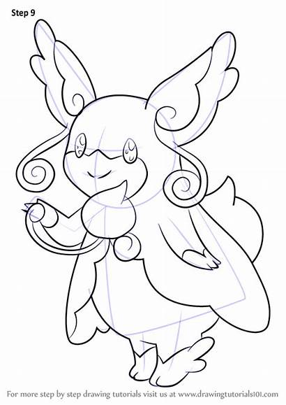 Pokemon Mega Audino Step Draw Drawing Anime
