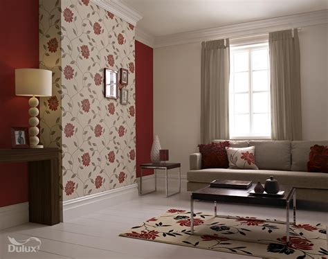 Red Living Room Wallpaper : Red And Grey Living Room Wallpaper
