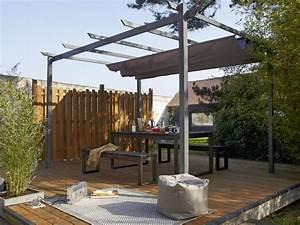 terrasse couverte 13 solutions legeres pour se mettre a With pergola de jardin leroy merlin 13 tonnelle leclerc