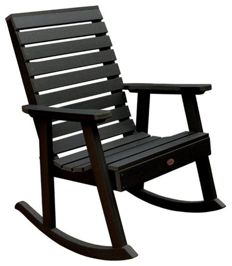 highwood usa llc weatherly rocking chair eco friendly synthetic wood contemporary outdoor