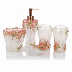 2015 fashion luxury bathroom accessories set free shipping With flower bathroom sets