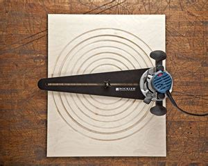 rockler trim router circle cutting jig woodworking