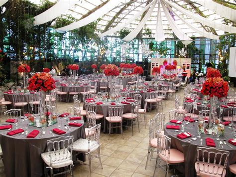 A Dramatic Red and Silver Themed Wedding The Glass Garden