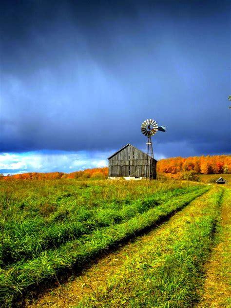 Free download Beautiful Farm House Windmill Hd Wallpaper ...