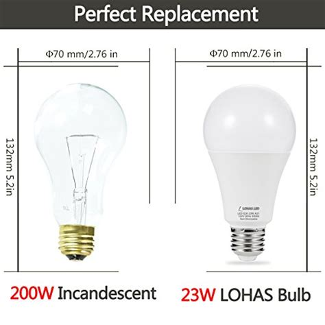 43 lohas led bulb 150w 200w light bulbs equivalent