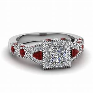 ruby ring princess cut ruby ring With wedding rings with rubies and diamonds