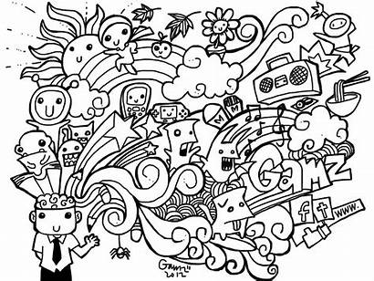 Doodles Easy Drawings Doodle Pages Simple Coloring