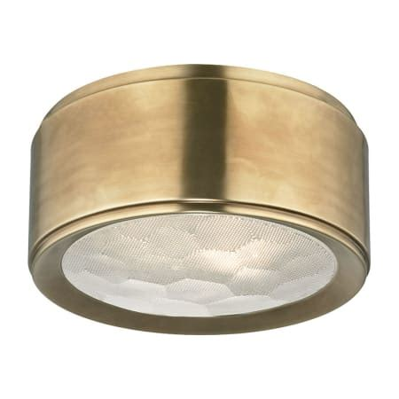 hudson valley lighting 7710 agb aged brass dalton 2 light flush mount ceiling fixture with cut