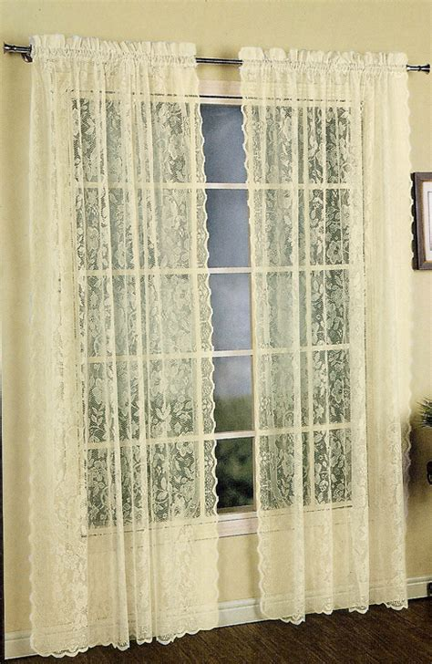 lace panel curtains lace panel united curtains window
