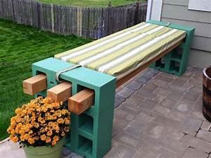 sitzbank aus schalungssteinen und holzbrettern selber With katzennetz balkon mit garden bench seat