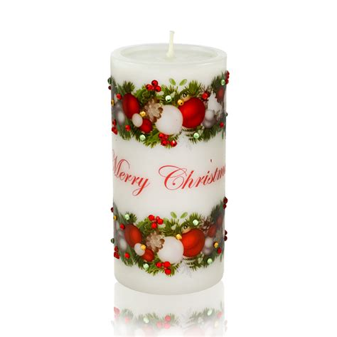luxury christmas candle merry christmas decorations