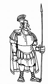 Centurion Coloring Cornelius Bible Spear Armor Heroes Drawing Pages Servant Cartoon Centurions Healed Getdrawings Netart sketch template