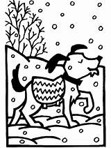 Coloring Winter Pages sketch template