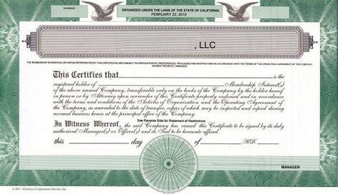 issue llc membership certificates  high