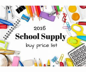 2016 Back To School Price List  U0026 Supplies Guide