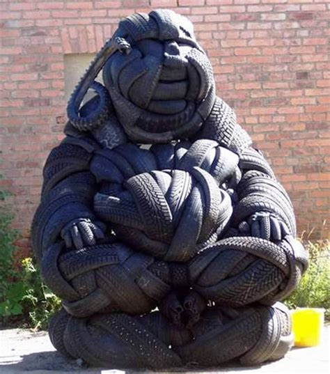 amazing  tire sculptures