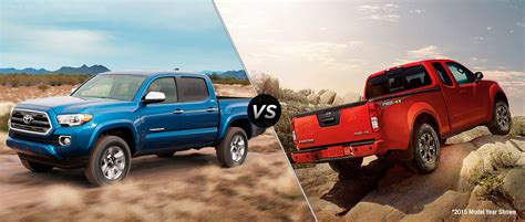 frontier nissan 2016 2016 toyota tacoma vs 2016 nissan frontier