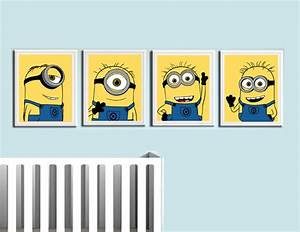 despicable me minions nursery room prints modern With kitchen cabinets lowes with always kiss me goodnight canvas wall art