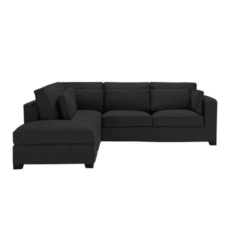 canape 5 places canapé d 39 angle 5 places en coton noir maisons du