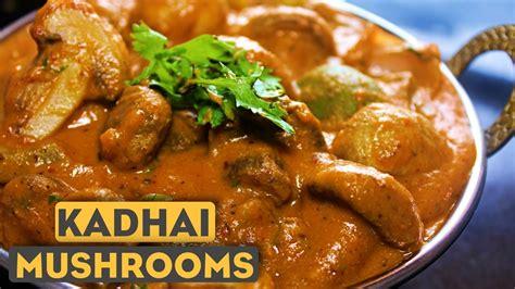 kadai mushroom recipe  hindi mushroom ki sabzi